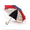 Parapluie imprimé multicolore rouge et bleu