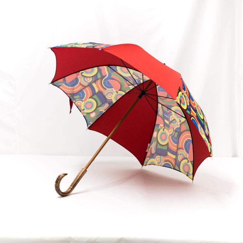 Parapluie imprimé multicolore rouge