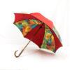 Parapluie imprimé batik rouge