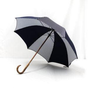 Parapluie imprimé pois bleu