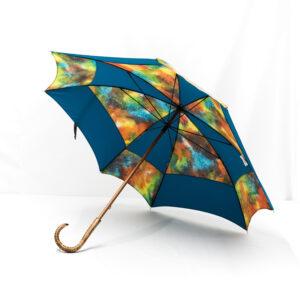 Parapluie carré batik cobalt