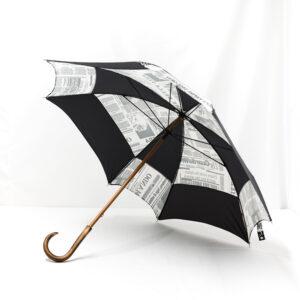 Parapluie carré journal gris