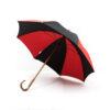 Parapluie droit classique noir et rouge