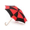 Parapluie carré noir et rouge