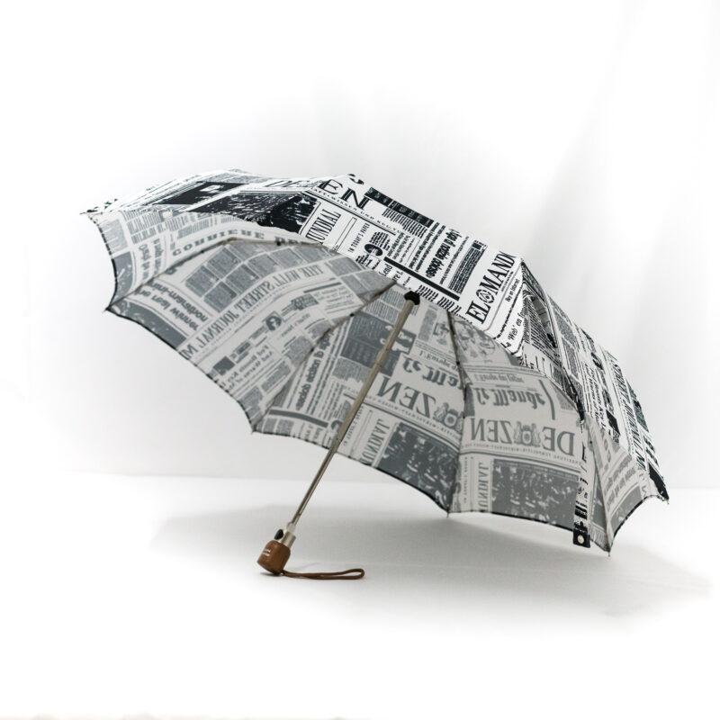 Parapluie pliant femme imprimé journal