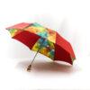 Parapluie pliant femme imprimé Batik rouge