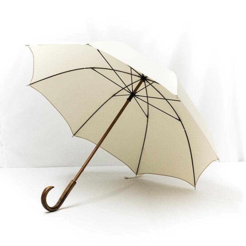 Parapluie droit classique écru