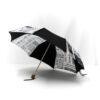 Parapluie pliant femme imprimé journal noir