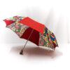 Parapluie pliant femme imprimé multicolore rouge