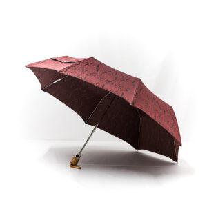 Parapluie pliant femme tissé baroque bordeaux