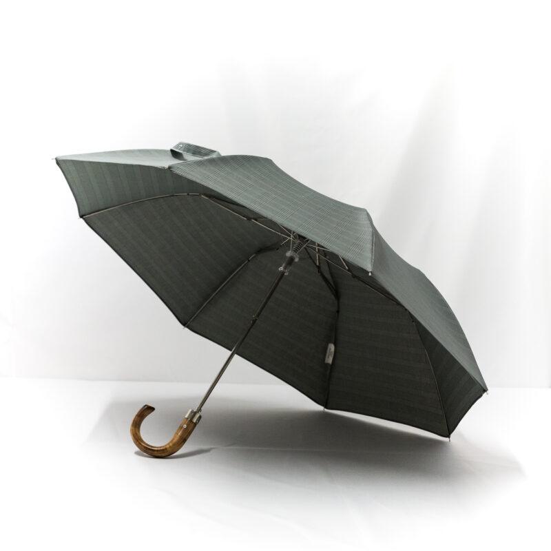 Parapluie pliant homme tissé prince de galles