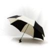 Parapluie pliant classique noir et écru
