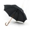 Parapluie chic droit tissé carreaux gris