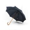 Parapluie chic droit tissé carreaux bleus