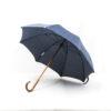 Parapluie droit tissé baroque bleu