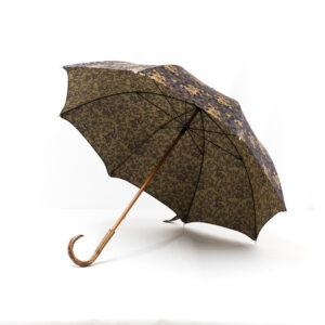 Parapluie droit tissé dragons bleus