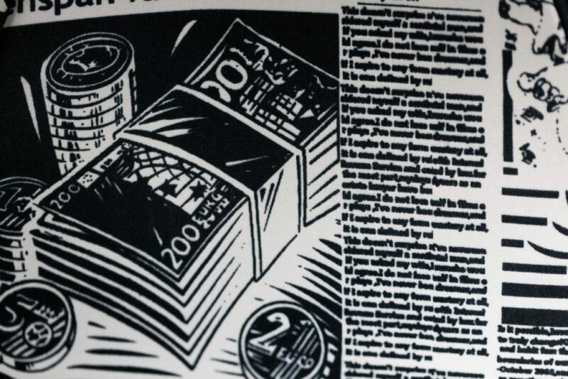 Tissu imprimé journal