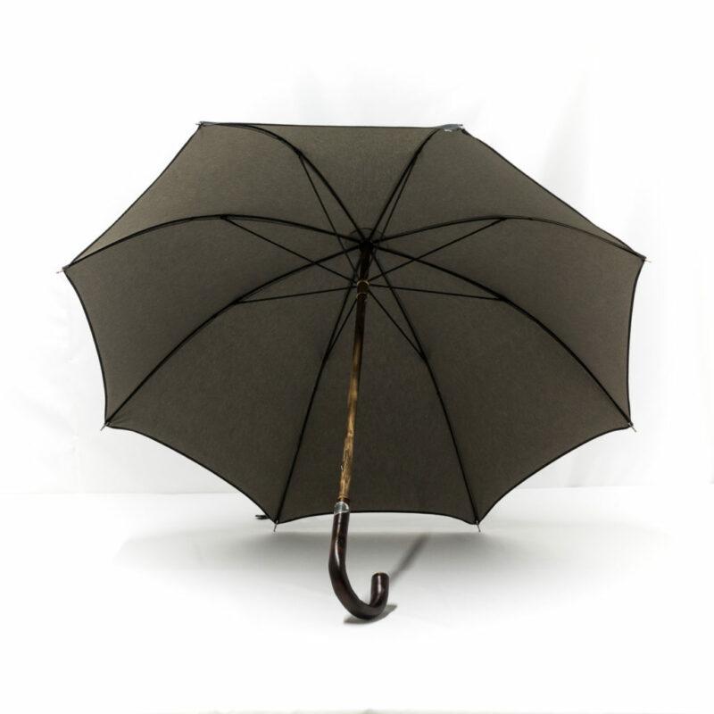 Parapluie anglais tissé jean gris