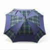 Parapluie carré écossais vert et bleu