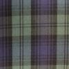 Tissu sergé écossais vert et bleu