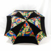 Parapluie carré multicolore noir