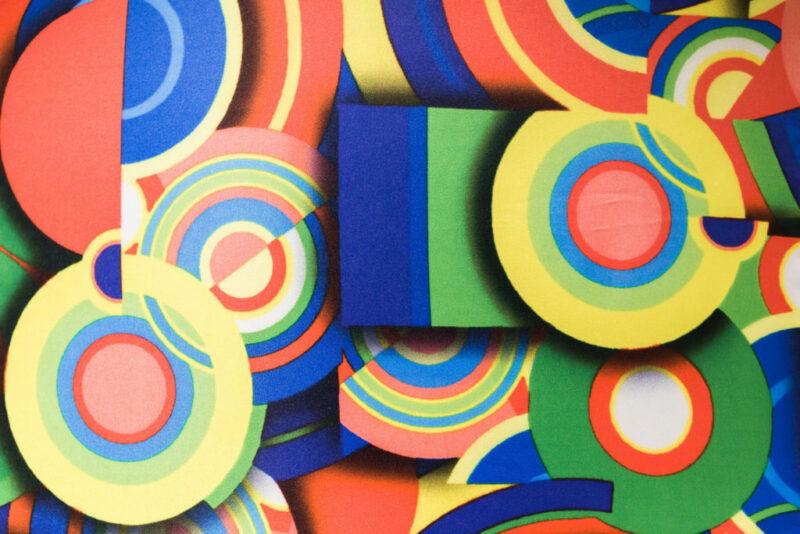 Tissu imprimé multicolore
