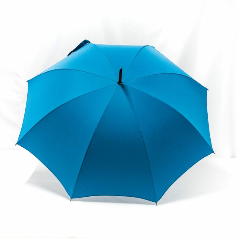 Parapluie droit classique bleu cobalt