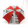 Parapluie imprimé journal rouge
