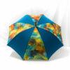 Parapluie imprimé batik cobalt