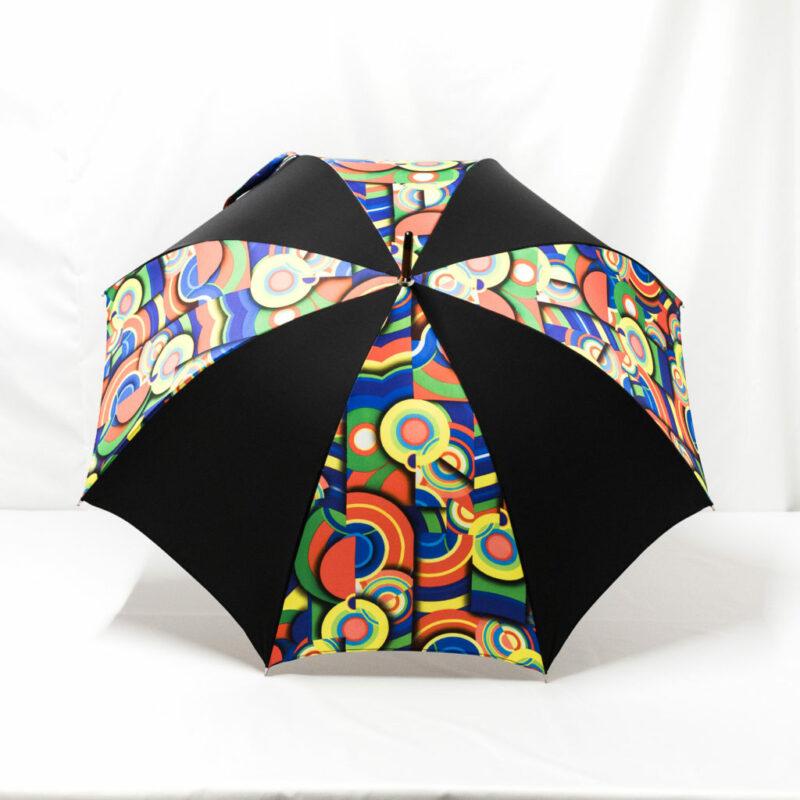 Parapluie imprimé multicolore noir