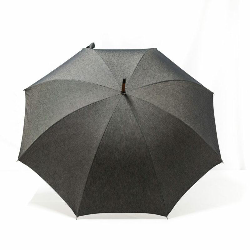 Parapluie droit tissé jean gris