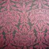 Tissu jacquard baroque rouge