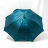 Parapluie droit tissé fleurs bleues