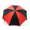 Parapluie droit classique rouge et noir