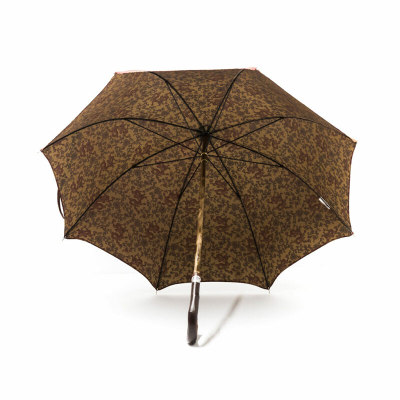 Parapluie anglais tissé dragons bordeaux