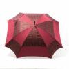 Parapluie carré baroque bordeaux