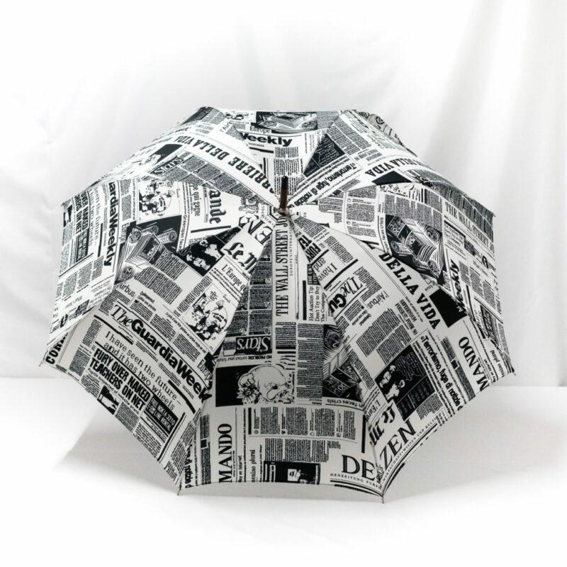 Parapluie imprimé journal
