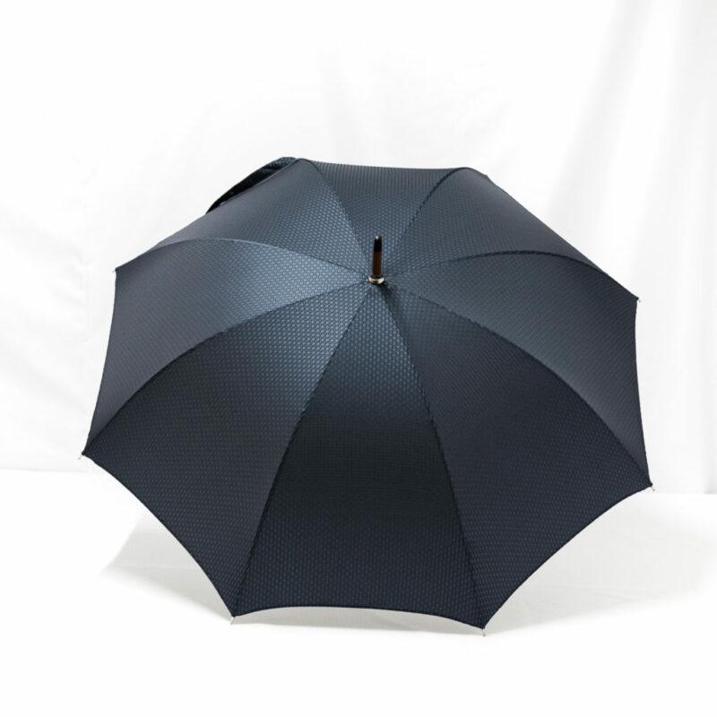 Parapluie chic droit tissé petits carreaux bleus