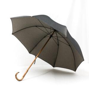 Grand parapluie tissé jean gris