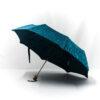 Parapluie pliant femme tissé fleurs bleues