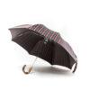 Parapluie pliant homme tissé rayures colorées