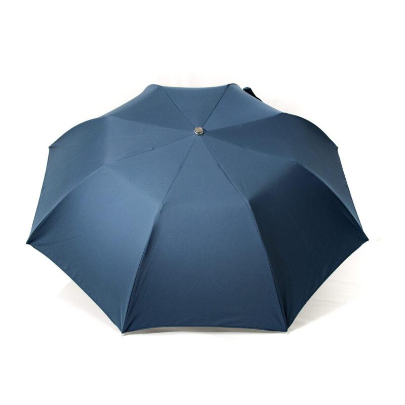 Parapluie pliant homme bleu pétrole