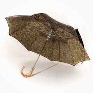 Parapluie pliant homme tissé dragon bleu