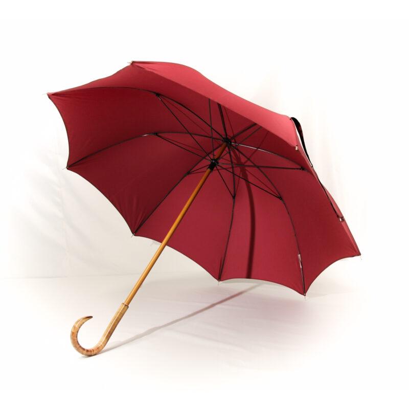 Grand parapluie homme bordeaux