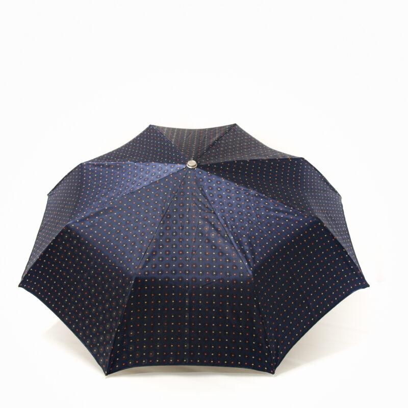 Parapluie pliant luxe femme tissé bleu