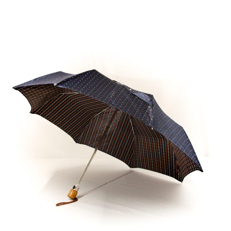 Parapluie pliant femme luxe bleu
