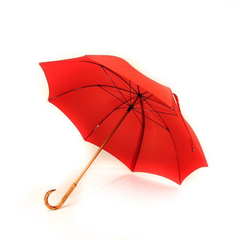Grand parapluie homme rouge